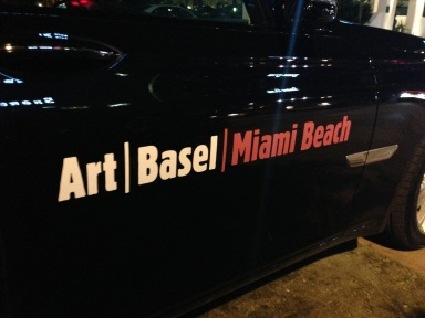These Art Basel Miami Beach BMW courtesy cars were all over South Beach, shuttling the VIPs every which way.
